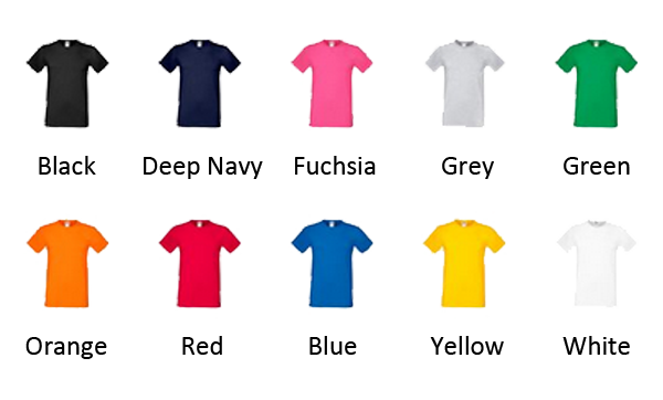 shirt colours